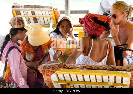 Hawker, Ocheateal Beach, Sihanoukville, Cambodia - Stock Photo