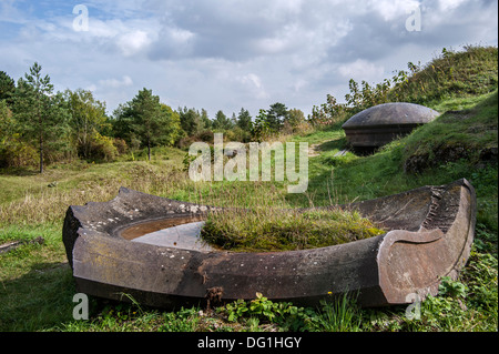 Demolished WW1 turret of the of the First World War One Fort de Vaux at Vaux-Devant-Damloup, Lorraine, Battle of - Stock Photo