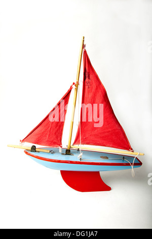 Toy yacht - Stock Photo