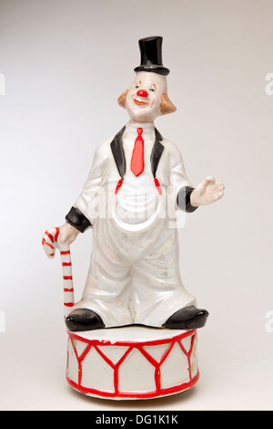 Clown musical carousel box - Stock Photo