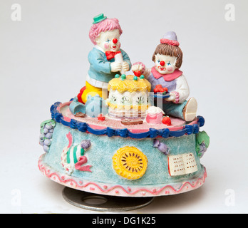 Clown music carousel box - Stock Photo