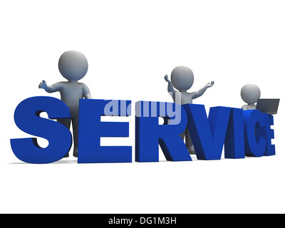 Service Word Showing Assistance Helpline Or Helpdesk - Stock Photo