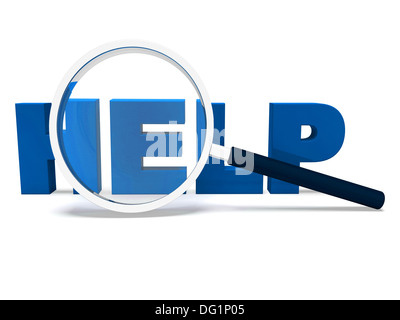 Help Word Showing Helping Helpdesk Assisting Or Support - Stock Photo