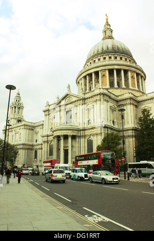 Saint Paul's cathedral in London, United Kingdom - Stock Photo