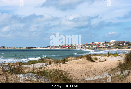 Punta del Diablo Beach, popular tourist place and Fisherman's place in the Uruguay Coast - Stock Photo