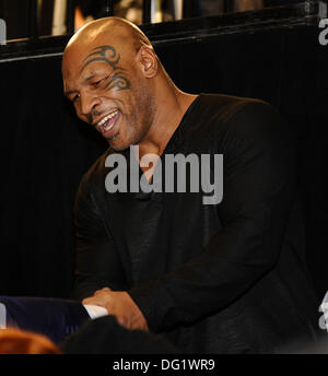 Las Vegas, NV, USA. 11th Oct, 2013. Former heavy weight champion Iron Mike Tyson attends the Juan Manuel Marquez - Stock Photo
