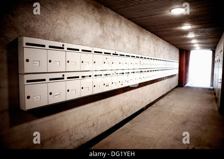 Apartment building mailboxes Stock Photo, Royalty Free Image ...