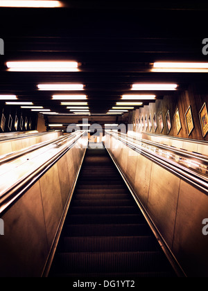 Escalator, Low Angle View - Stock Photo