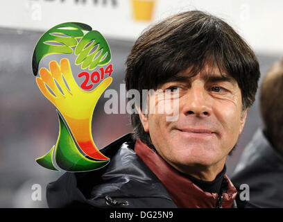 Cologne, Germany. 11th Oct, 2013. Qualifying match for  FIFA Football World Cup 2014 Brasil in RheinEnergie stadium, - Stock Photo