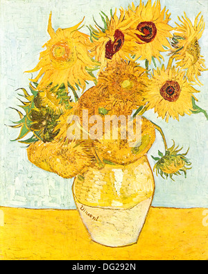 Sunflowers by Vincent van Gogh 1888 - Stock Photo