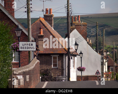 The village of Upper Beeding in West Sussex - Stock Photo