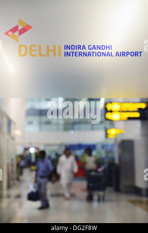 Indira Gandhi International Airport in Delhi, India - Stock Photo