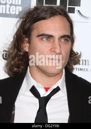 New York, USA. 12th Oct, 2013. Actor JOAQUIN PHOENIX attends the 51st annual New York Film Festival Closing Night - Stock Photo