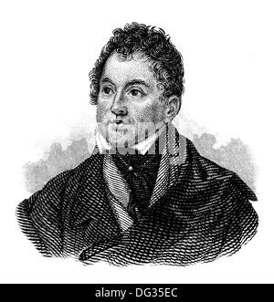 Thomas Moore, 1779 - 1852, an Irish poet, writer, translator, and ballad singer, - Stock Photo