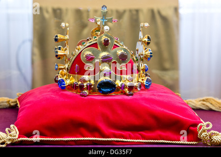 Facsimile of Czech crown jewels - special exhibition 10.10 - 10.14 2013 in Museum in Town Louny - Stock Photo