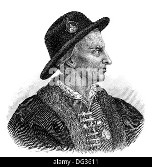 Louis XI, 1423-1483, called the Prudent, King of France, - Stock Photo