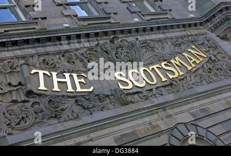 The old Scotsman Newspaper building Northbridge Edinburgh Scotland UK - Stock Photo
