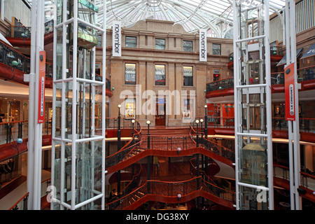 Princes Square Shopping Centre Interior Glasgow City Centre Strathclyde Scotland UK - Stock Photo