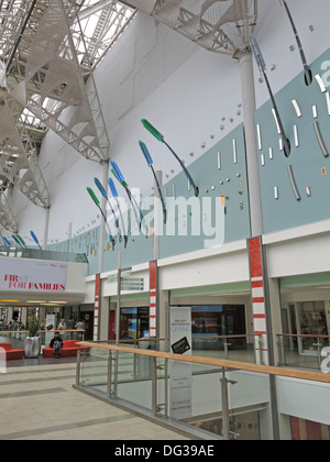 Inside St Enoch Shopping retail shopping centre Glasgow - Stock Photo