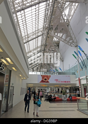 Interior of St Enoch Shopping retail shopping centre Glasgow - Stock Photo
