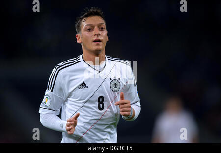 Cologne, Germany. 11th Oct, 2013. Germany's Mezut Ozil reacts during the soccer match between Germany and Ireland - Stock Photo