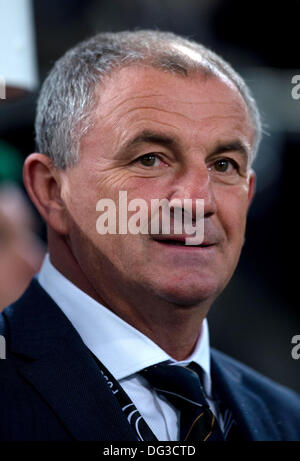 Cologne, Germany. 11th Oct, 2013. Ireland's coach Noel King during the soccer match between Germany and Ireland - Stock Photo