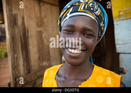 A young African girl in Kampala, Uganda. - Stock Photo
