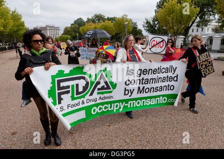 Anti-Monsanto protest - Washington, DC USA - Stock Photo