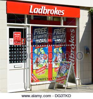 Ladbrokes betting shop, Dorchester, Dorset England UK - Stock Photo
