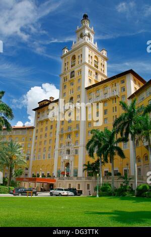 Famous Biltmore Hotel, Coral Gables, Miami, Florida, USA - Stock Photo