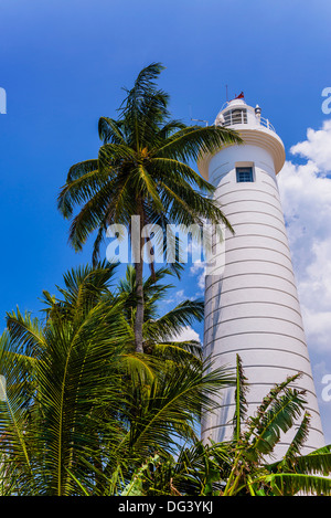 Galle lighthouse, Old Town of Galle, UNESCO World Heritage Site, Sri Lanka, Asia - Stock Photo