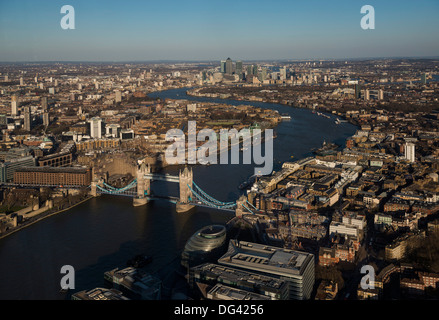 View from The Shard, London, England, United Kingdom, Europe - Stock Photo