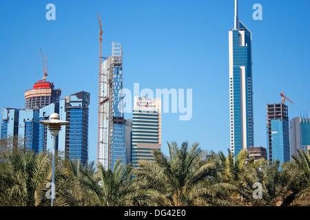 Skyscrapers,Kuwait city - Stock Photo