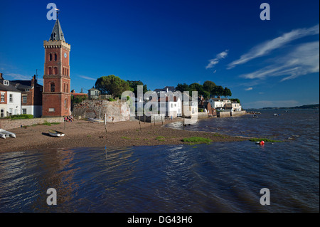 Peters Tower, the harbour, Lympstone, Exe Estuary, Devon, England, United Kingdom, Europe - Stock Photo