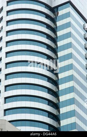 modern Skyscraper, kuwait city - Stock Photo