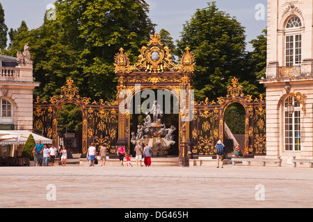 Place Stanislas, UNESCO World Heritage Site, Nancy, Meurthe-et-Moselle, France, Europe - Stock Photo