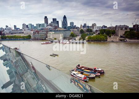 Thames River as seen from City Hall, London, England, UK - Stock Photo