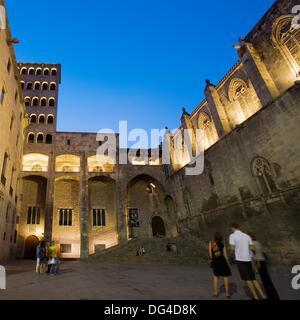 Palau Reial Mayor, Santa Agatha Chapel, Placa del Rei. Barri Gotic. Barcelona. Catalonia. Spain. - Stock Photo