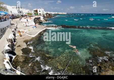 Punta Mujeres fishing village  Lanzarote, Canary Islands, Spain - Stock Photo