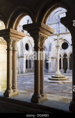 Sé Cathedral cloisters, Porto Old Town UNESCO World Heritage, Portugal - Stock Photo