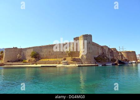 Medieval Castle in Kyrenia, North Cyprus. - Stock Photo