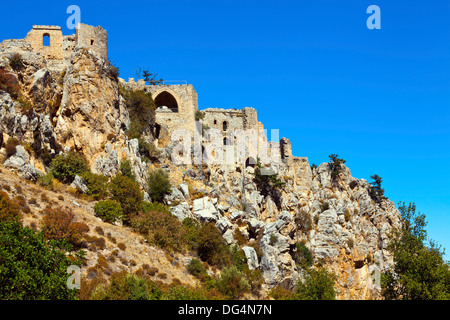 St. Hilarion Castle near Kyrenia in North Cyprus. - Stock Photo