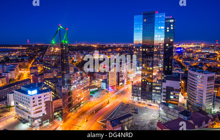 Tallinn, estonia at the financial district. - Stock Photo