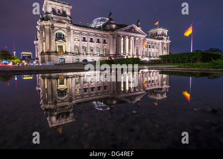 Reichstag Parliament Building in Berlin, Germany - Stock Photo