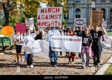 March Against Monsanto in Albany, New York State - Stock Photo
