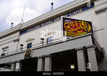 A close view of the theatre royal Drury Lane, London, UK - Stock Photo