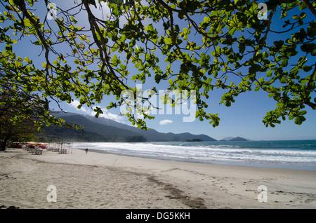 Catelianos beach, at castelianos bay, Ilhabela, Sao Paulo state shore, Brazil - Stock Photo