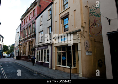 A view of King Street  in the town of Carmarthen,Carmarthenshire,Wales,UK - Stock Photo