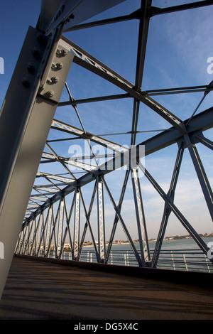 New Pont Faidherbe bridge Welcome in Saint-Louis, Senegal - Stock Photo
