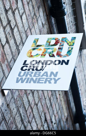 London, UK. 15th Oct, 2013. London Cru is the first urban winery in London by Roberson wine founder Cliff Roberson - Stock Photo